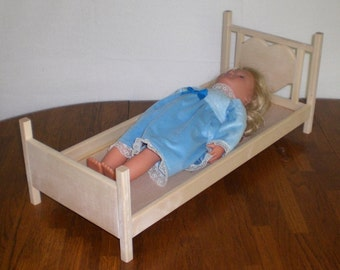 Unfinished Doll Bed for American Girl size doll by Judy Illi Crafts