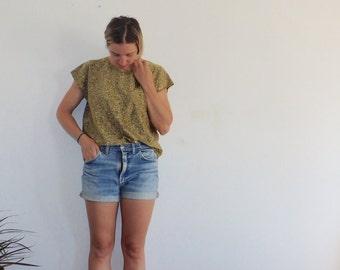 Metallic Shirt Vintage Womens Shell