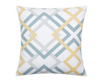 YELLOW Pillow Cover.Decorator Pillow Cover.Home Decor.Large Print. WINSTON SAFFRON Cushions. Cushion.Pillow. Premier Prints