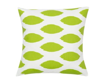 LIME GREEN Pillow Cover.Decorator Pillow Cover.Home Decor.Large Print.CHIPPER.Slipcover. Cushion.Pillow. Premier Prints