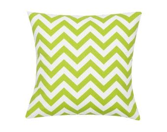 CHARTREUSE Pillow Cover.Decorator Pillow Cover.Home Decor.Large Print.CHEVRON.Cushions. Cushion.Pillow. Premier Prints