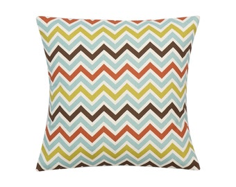 MULTI Pillow Cover.Decorator Pillow Cover.Home Decor.Large CHEVRON Print.Cushions. Cushion.Pillow. Premier Prints