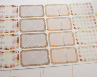 16 Half Box Stickers Thanksgiving Planner Stickers RTS PS142 Fits Erin Condren