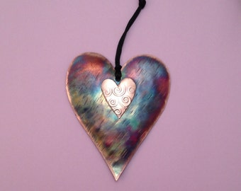 Handcrafted Copper Heart Ornament