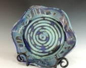 RESERVED FOR PAM - Baker / Pie Plate in Purple Rain Glaze / Wheel Thrown Pottery in Stoneware Clay / Bakeware / Cookware