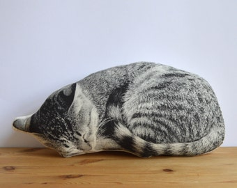 Plush Sleeping Cat Pillow