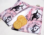 Villianesses Sandwich and Snack Bag Set, Reusable