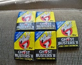 5 packs unopened ghost busters trading cards 1989