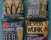 Set of 4 Primitive Man Cave Beer Ornies