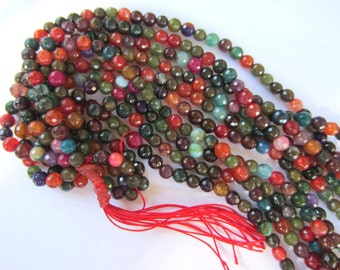 Tourmaline  beads multi color gemstones  faceted 15 inch strand N213A 6mm beads-L6