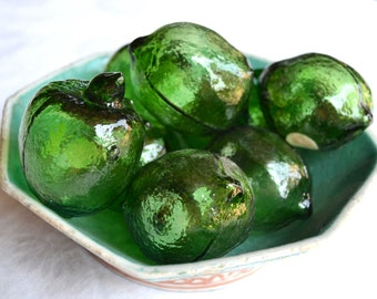 Vintage Decorative Glass Limes - Okinawa Crystal - A Set of 6