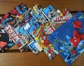 Reusable snack bag -  Reuse snack bag -  Super heroes - Pick your favorite: Star wars, Superman, Batman, Spiderman and Marvel comics