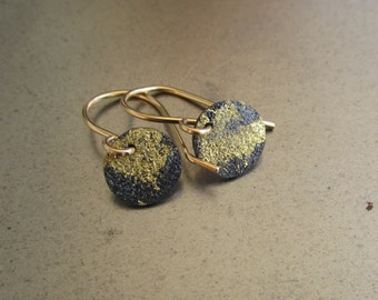 ity bity gold and steel earrings