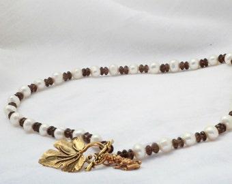 Freshwater Pearl & Smoky Quartz Twilight Necklace