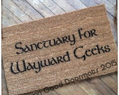 Sanctuary for Wayward Geeks- doormat geek stuff