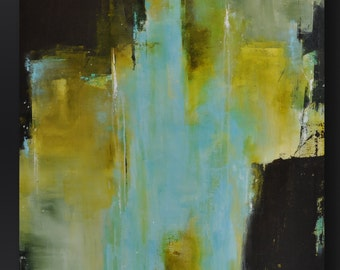 Sanctuary - 40 x 30 - Abstract Acrylic Painting - Huge Contemporary Wall Art - Modern