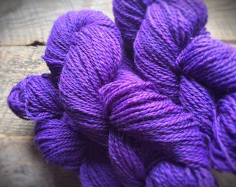 Purple wool for knitting yarn - worsted weight - Peace Fleece - Brenda's Purple - violet - yarn shop