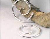 12 Gauge Spiral Silver Elegant Tribal Gauged Earrings 10g 14g 16g Gauged Spirals