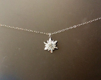 2015 Swarovski Sterling and Crystal Snowflake Necklace,Charm, Winter, Jewelry, Gift for Her, December