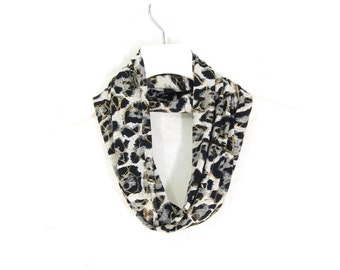 SALE - Infinity Scarf Circle Scarf Tube Scarf Spring Cowl Spring Scarf Summer Scarf Lightweight Scarf Womens Scarf Animal Print Scarf
