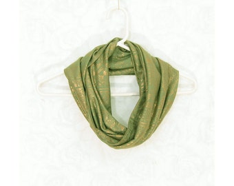 Green Infinity Scarf Gift for Her Circle Scarf Tube Scarf Spring Cowl Spring Scarf Fall Scarf Lightweight Scarf Fall Fashion Green Scarf