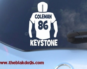 Custom Vinyl Stickers For Your Car And Home By Blakdogs On Etsy - Football custom vinyl decals for cars
