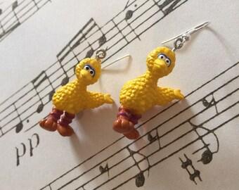 Sesame Street Big Bird Earrings