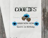 10 PAK Cookie Buffet Party Favor Bags / Blue Monster Theme / Cookie Bar Bag / Kids Birthday / Personalized 3 Day Ship