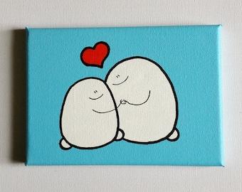 Chep Love - Bigger Size - Acrylic Painting On Canvas - Original
