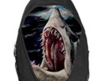 Mako Shark Attack Painting Art Backpack School Bag Back To School hiking