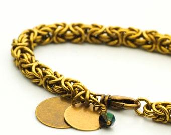 Sale Economical Antiqued Gold Bracelet Kit - Byzantine Chainmail