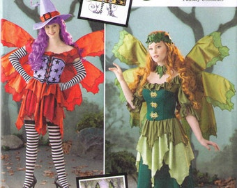 Adult Halloween costume pattern, Amy Brown fairy costume, Simplicity 1550 size 14-22