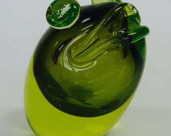 Mid Century Glass Frog