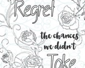 Adult Inspirational Coloring Page printable 13-Take a Chance