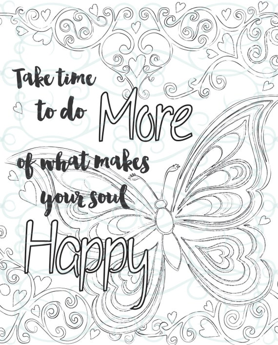 Inspirational Quotes Coloring Pages For Adults : Adult inspirational coloring page printable make your soul