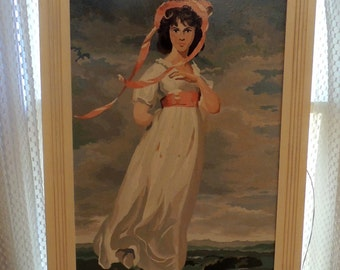 Large 'Pinkie' PBN Paint by Number of 1794 Rendition Thomas Lawrence Painting