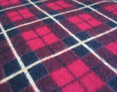 Vintage flannel, retro material, red and green flannel, sewing, quilting, retro, super soft, sewing project, red checks, checkered, yellow