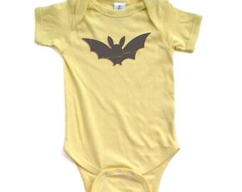 Apericots Fun Eerie Black Bat Halloween Unisex Baby Cute Soft Cotton Creeper