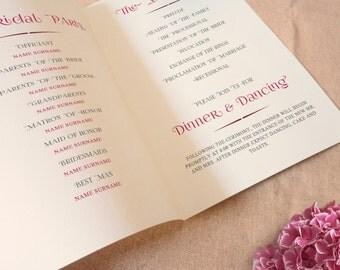 Program, wedding program, printable wedding program, Hydrangea wedding, DIY printable program, Print your Card, Printable wedding program
