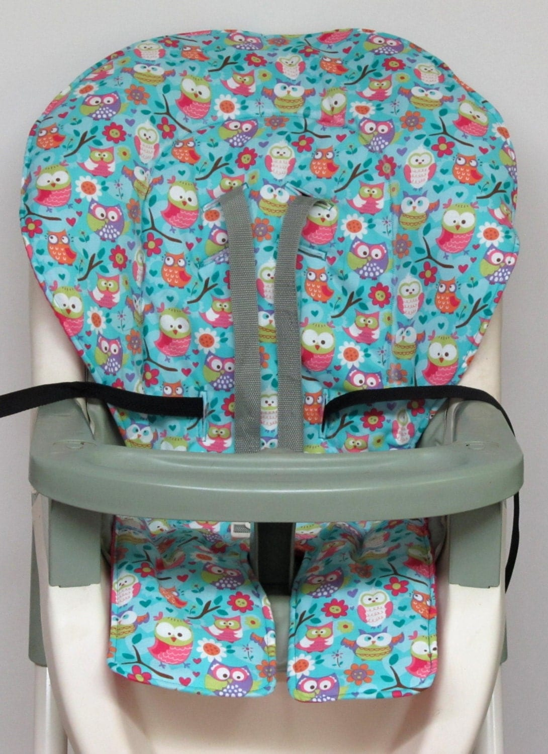 high chair cover graco pad replacement girly owls. Black Bedroom Furniture Sets. Home Design Ideas