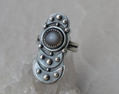 Sterling Silver and Silver Moonstone Ring