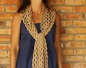 Crochet Pattern, Lace Scarf Patterns, Lace Crocheted Wrap Pattern, Openwork Crochet Design using Cotton Yarn, Easy to Crochet Scarf Tutorial