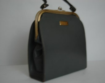 Vintage 1960's Fall Kelly Bag Medium Gray Leather Kelly Bag Handbag