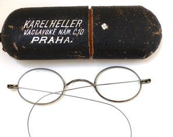 Antique Optical 1800s Eyeglasses  Frames  Rare,with case
