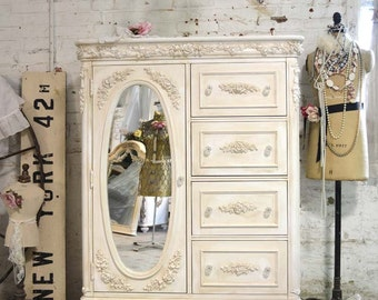 Painted Cottage Chic Shabby Romantic French  Dresser DR826