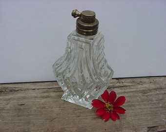 Art Deco Cut Glass Classy Perfume Scent Bottle Atomizer Style Vintage