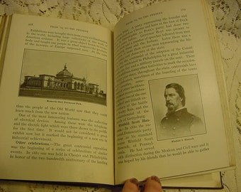 Antique 1915 History of Pennsylvania State Book Illustrated Edwardian School Textbook