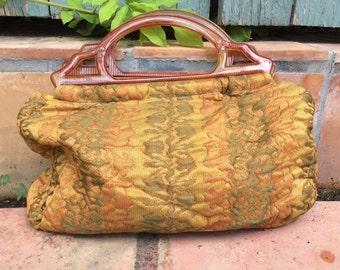 Vintage Handmade Tapestry Bag