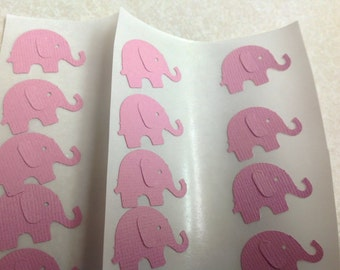 50 pc Pink Elephant Stickers         NEW Baby    Baby Shower