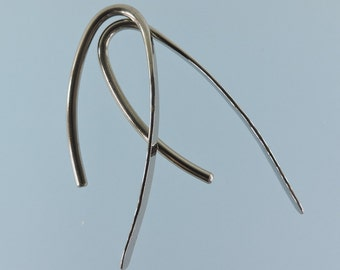 12 gauge niobium earrings: Marquise shape